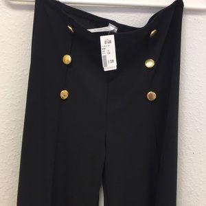 Pants - High waist spandex wide leg pants